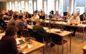 Teilnehmer ETF-Veranstaltung Sektion Schiene